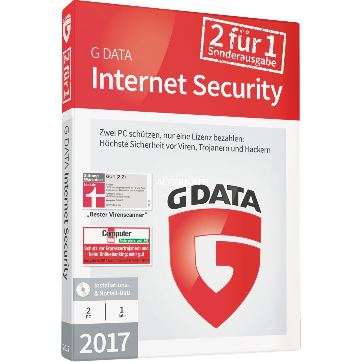 Internet Security 2017 1año(s) Alemán, Software
