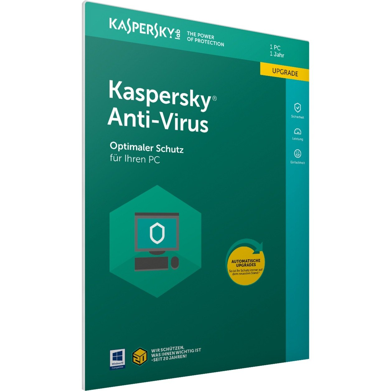 Anti-Virus 2018 1usuario(s) Full license Alemán, Software