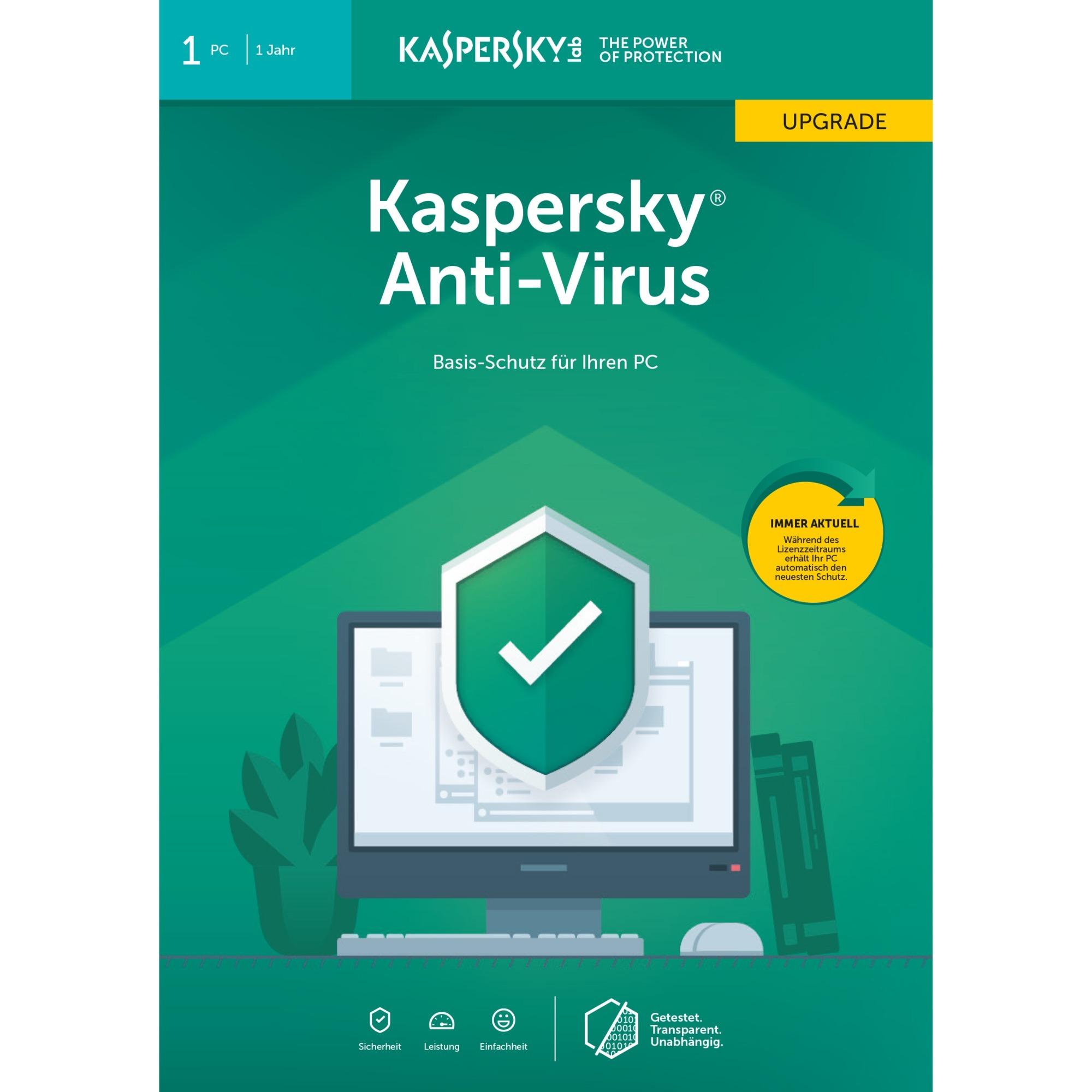 Anti Virus 2019 1 licencia(s) 1 año(s) Alemán, Software