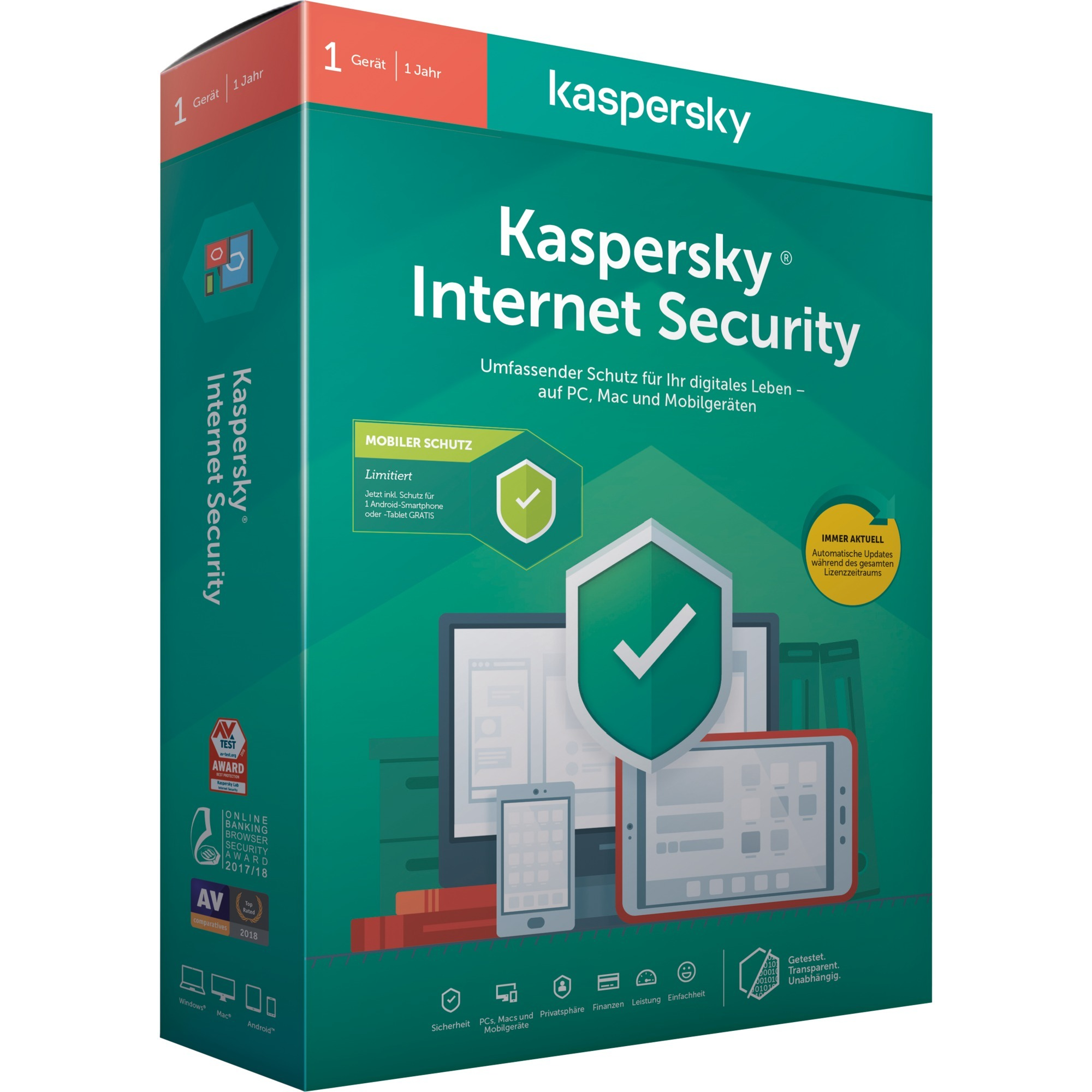 Internet Security + Internet Security for Android Licencia básica 1 licencia(s), Software