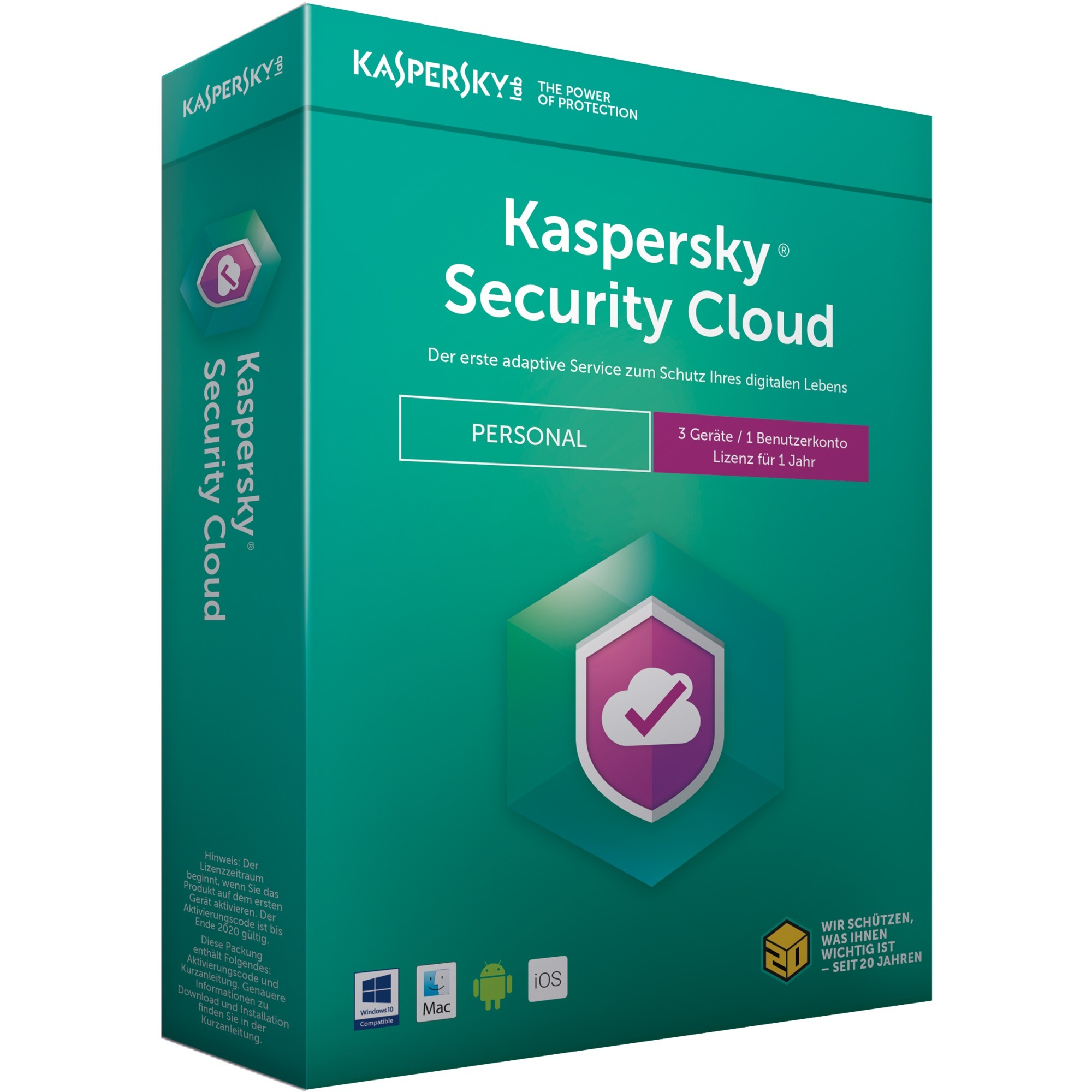 Security Cloud Personal Edition 3usuario(s) 1año(s) Full license Alemán, Software