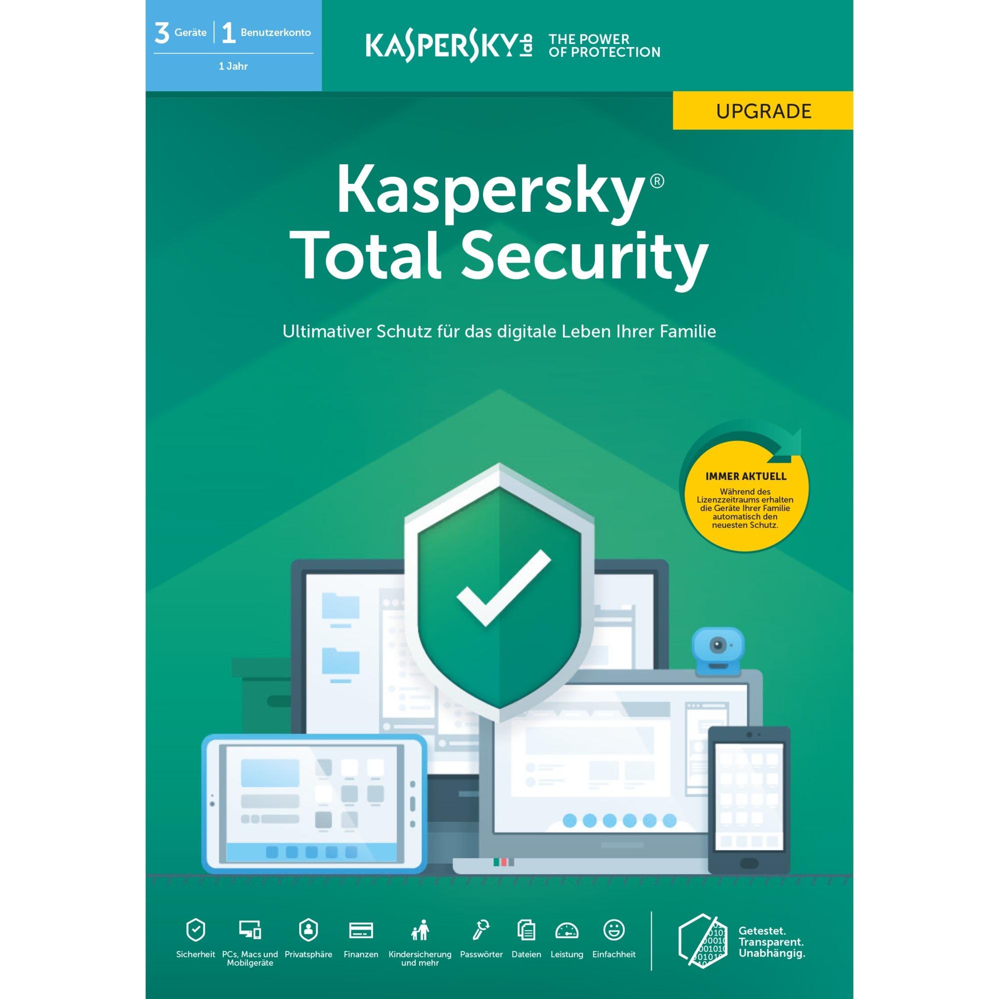 Total Security 2019 3 licencia(s) 1 año(s) Alemán, Software