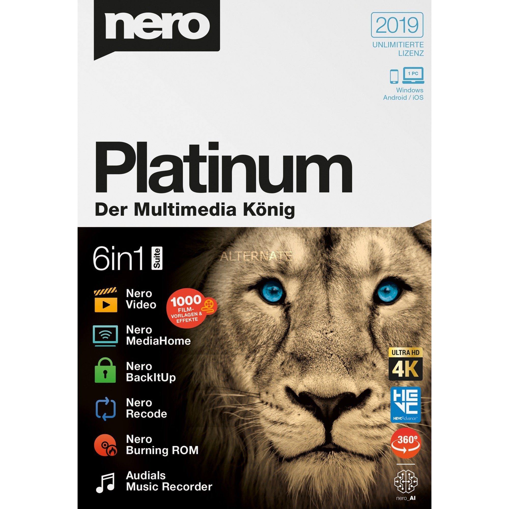 Nero Platinum 2019, Software