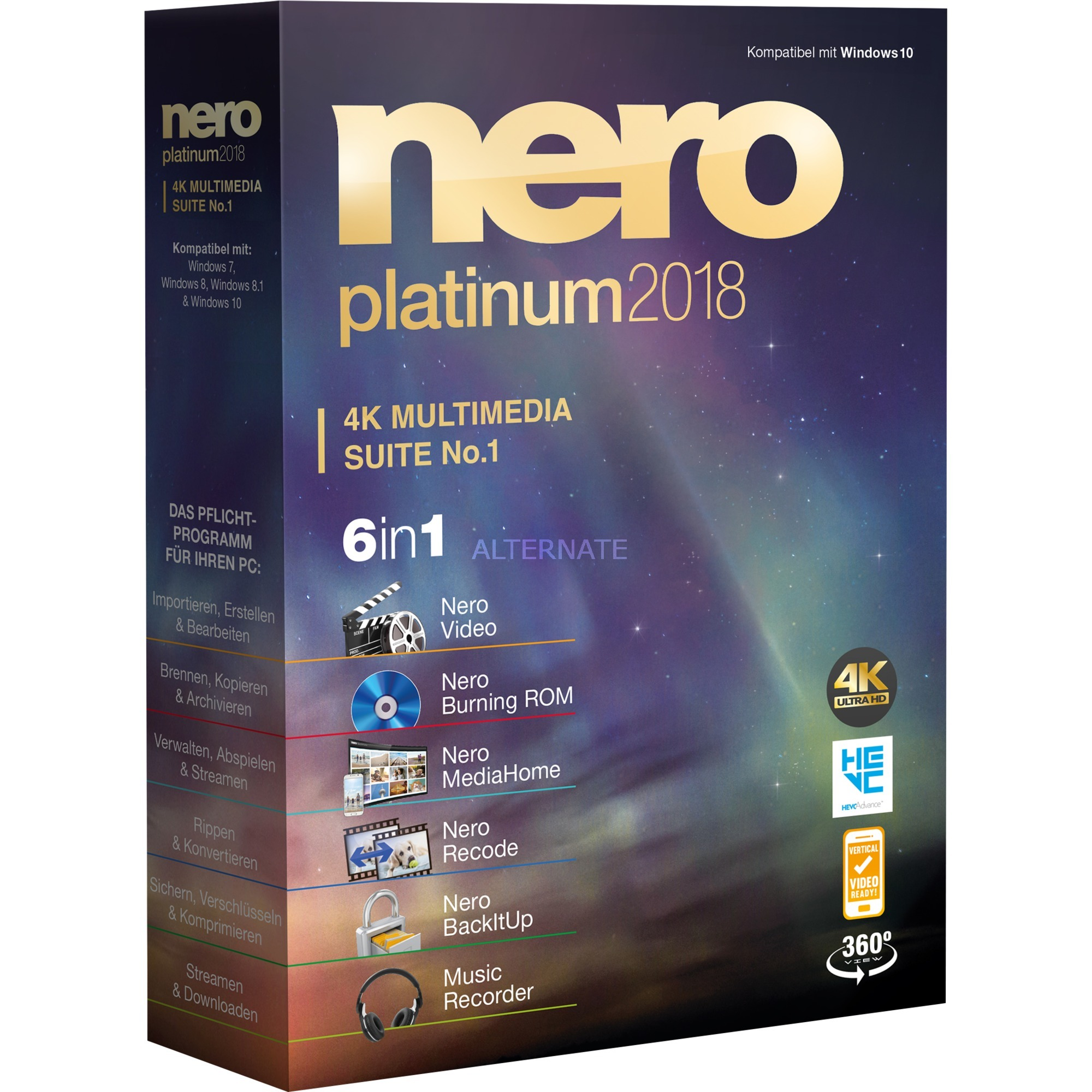 Platinum 2018, Software