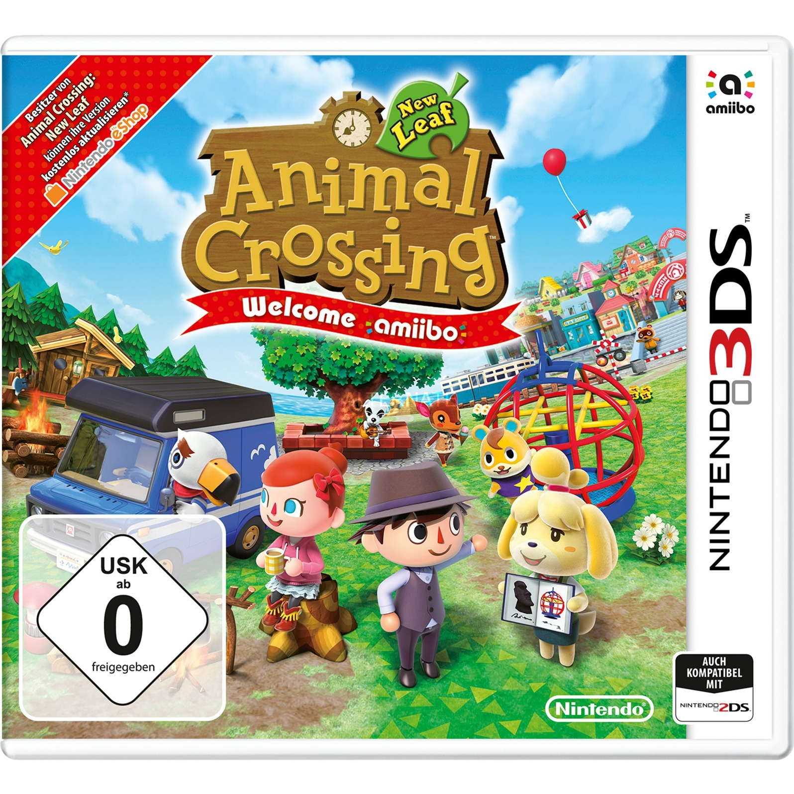 Animal Crossing: New Leaf - Welcome amiibo, 3DS Básico Nintendo 3DS Alemán vídeo juego