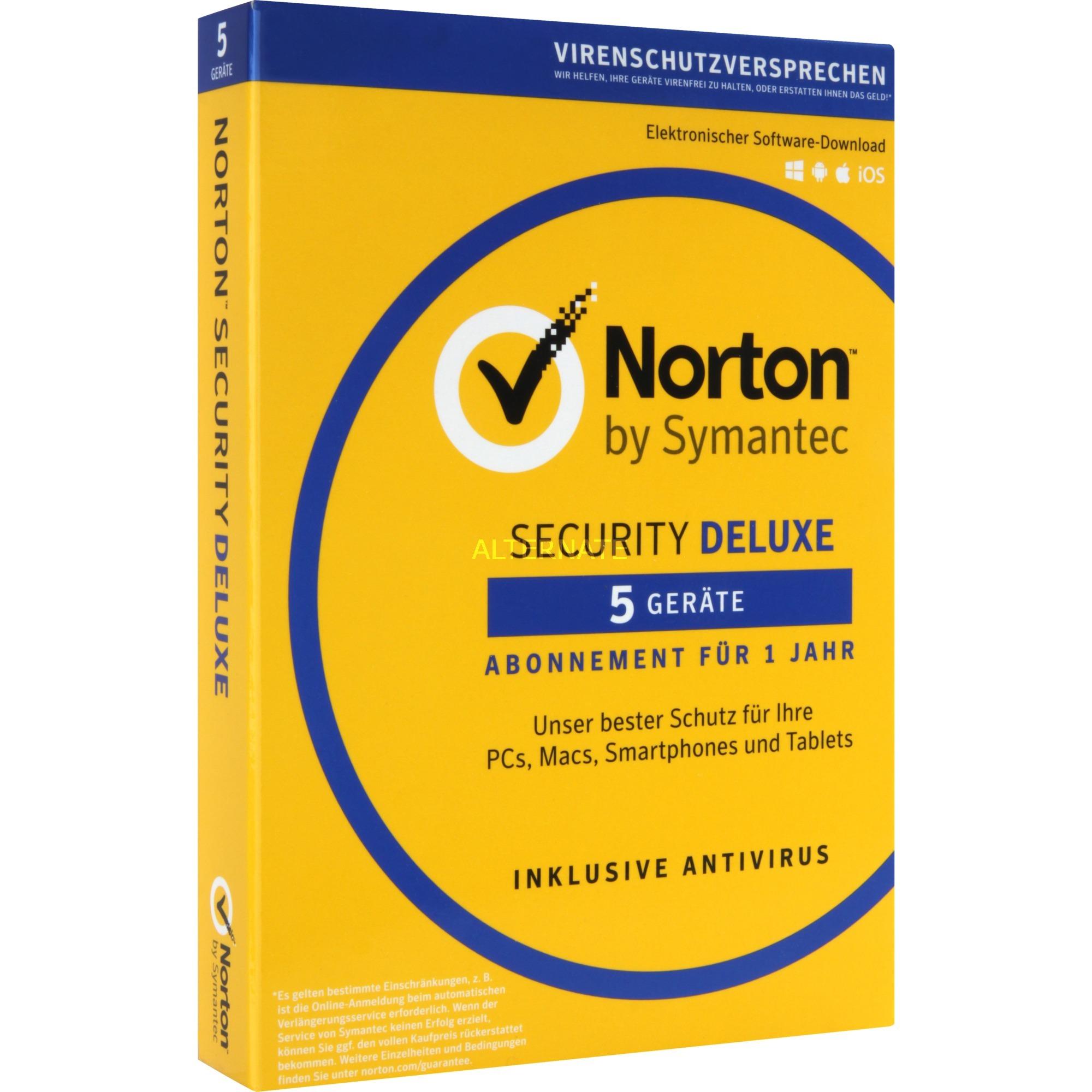 Norton Security Deluxe 3.0 Licencia completa 1 licencia(s) 1 año(s) Alemán, Software