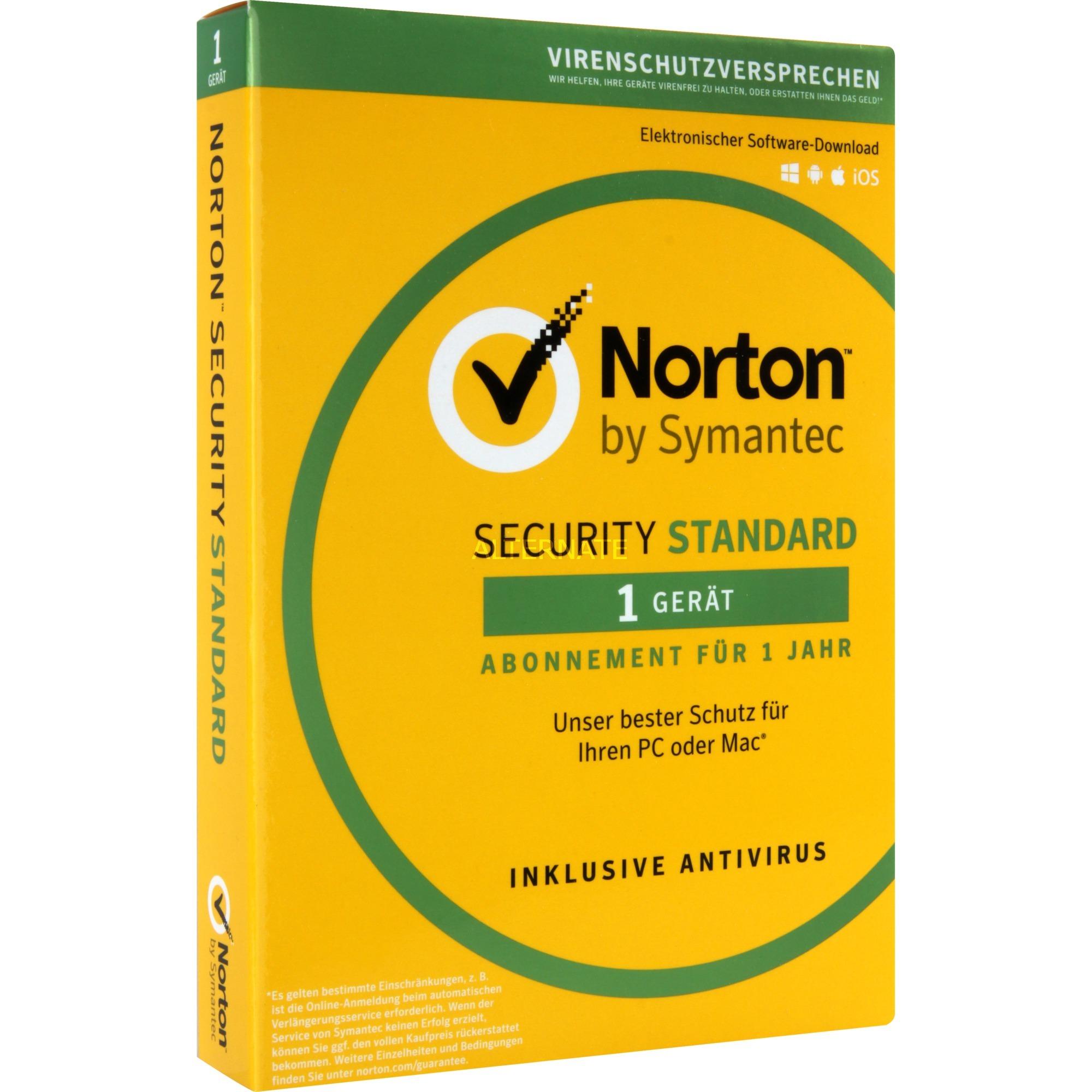 Norton Security Standard 3.0 Licencia completa 1 licencia(s) 1 año(s) Alemán, Software