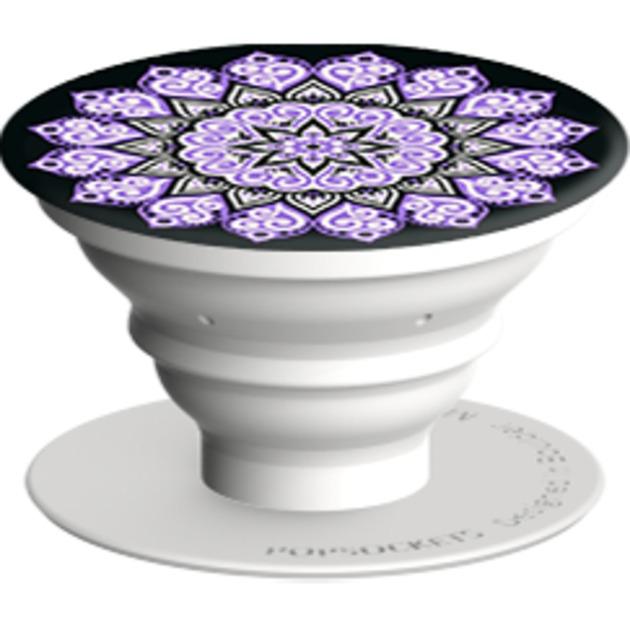 Peace Mandala Purple Coche, Interior, Exterior Soporte pasivo Negro, Púrpura, Blanco