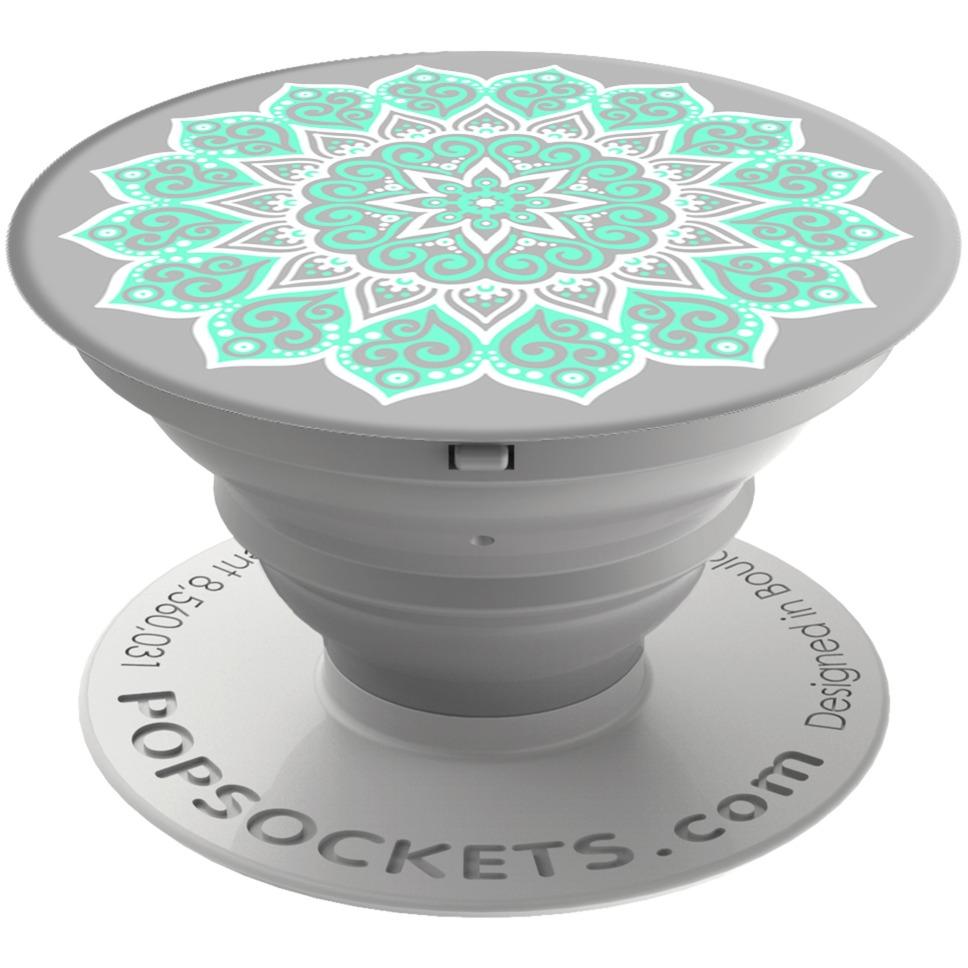 Peace Mandala Tiffany soporte para libros electrónicos, Teléfono móvil/smartphone, Tablet/UMPC Verde, Gris, Blanco Soporte pasivo